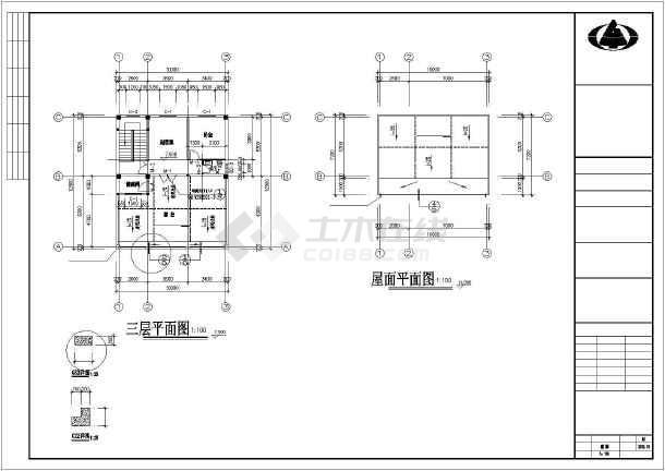 某地120平方民房建筑设计施工图