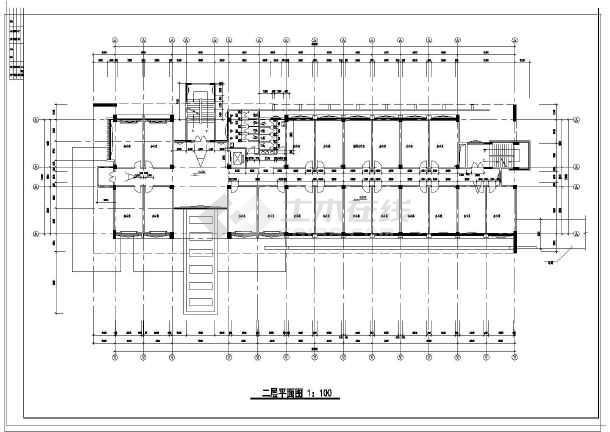 某高层学院行政办公楼建筑平面图设计