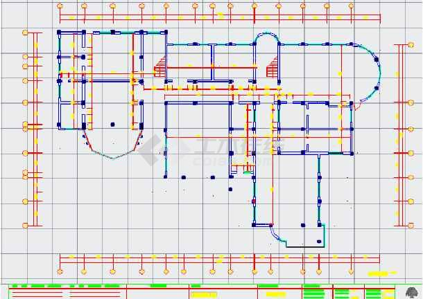 某地幼儿园建筑设计平面图(含电路系统图)