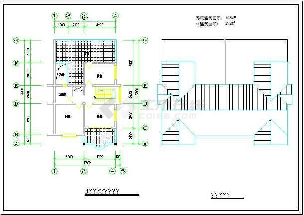 某地城镇居民住宅建筑设计施工图纸图片3