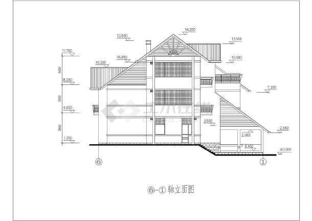 创意时尚二层别墅建筑设计施工图纸