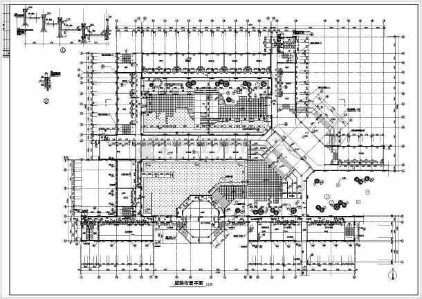 某学校教学楼广场景观规划设计图纸图片