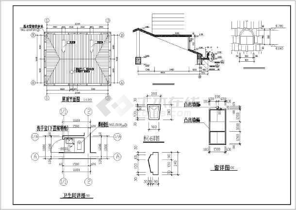 某新型棉鞋农村住宅楼建筑设计二层图纸毛线双龙图纸图片