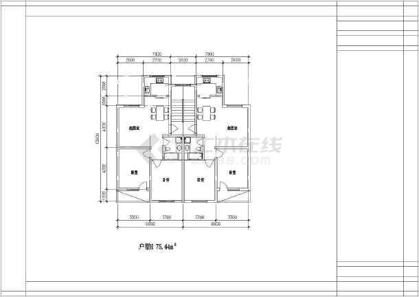 40个经典别墅户型80-140平米设计施工图纸