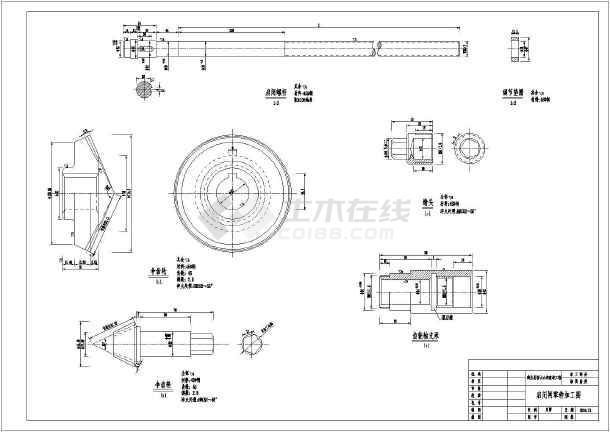 某水利工程金属结构专业闸门结构图