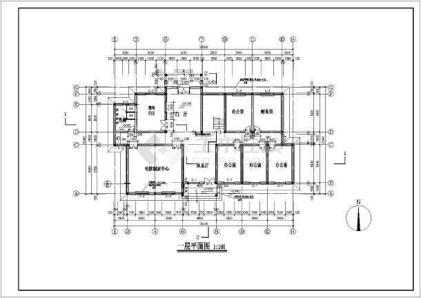 某三层砖混结构办公楼结构设计施工图