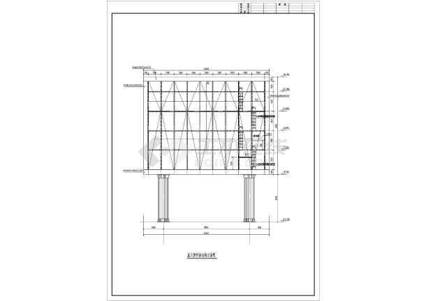 某地LED大屏幕钢结构方案图纸图_cad图纸下全套qq企鹅图片