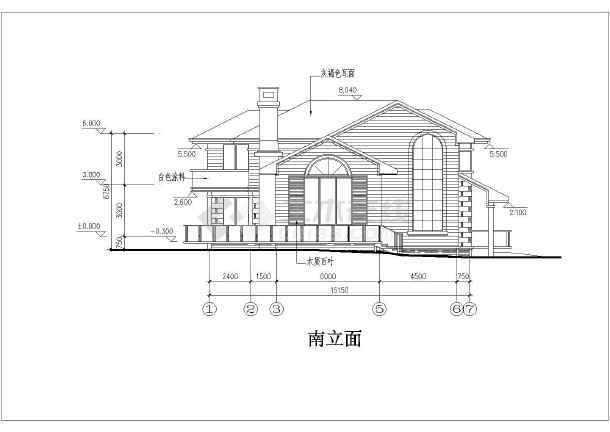 武汉两层框架结构别墅建筑设计方案图图片