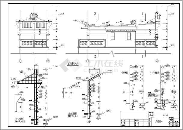 广东某地四层别墅建筑结构施工图纸_cad图纸下载-土木