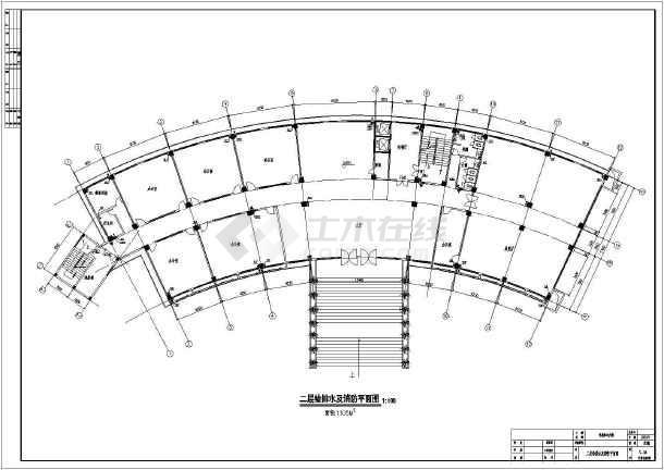 某学校七层框架结构电教楼给排水消防设计图