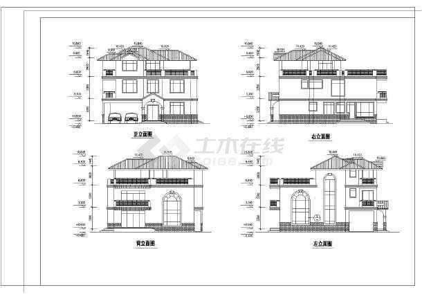 某地新农村砖混结构住宅设计方案图_cad图纸下载-土木