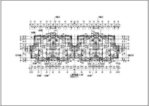 框架结构西班牙式住宅建筑施工图,图纸包括个层平面图,立面图,剖面图