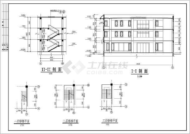 古建营业厅施工图主要包括:一层平面图,二层平面图,三层平面图,屋顶平