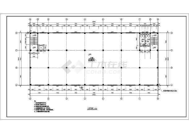 扬州某公司三层框架结构厂房建筑设计施工图