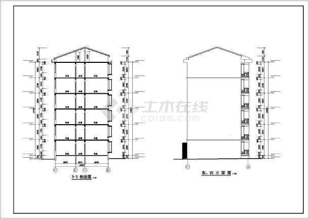 某小区6层砌体结构住宅楼建筑设计方案图纸