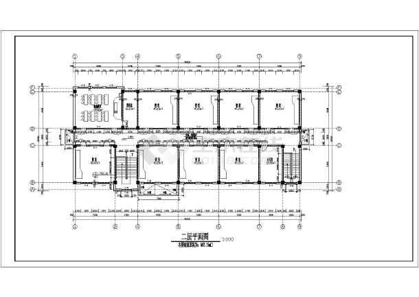 图纸 建筑图纸 教育建筑 中学教学楼设计图 某伊斯兰民族风格二层教学图片