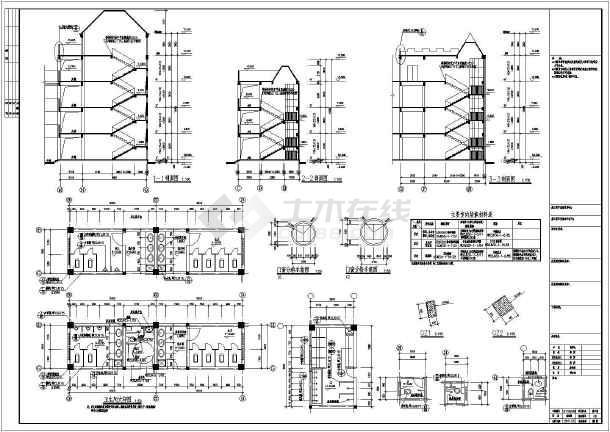 •建筑设计说明•幼儿园建筑•屋顶平面图•卫生间