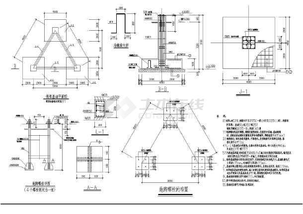 通信二图纸GSM移动塔设计图_cad阶段下载学校图纸修缮图片