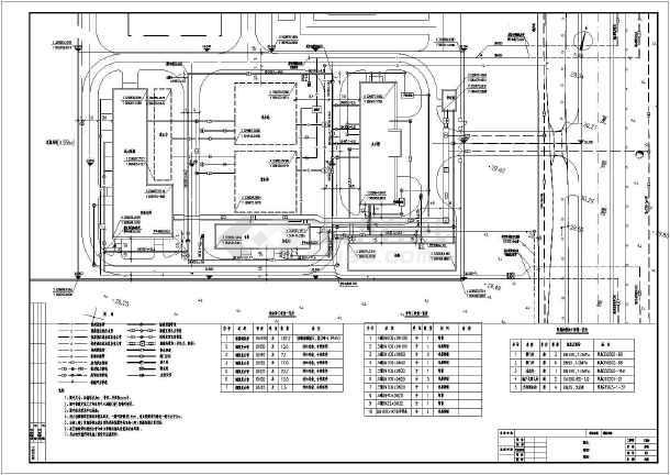 某自来水厂室外管线设计总图(管线综合)