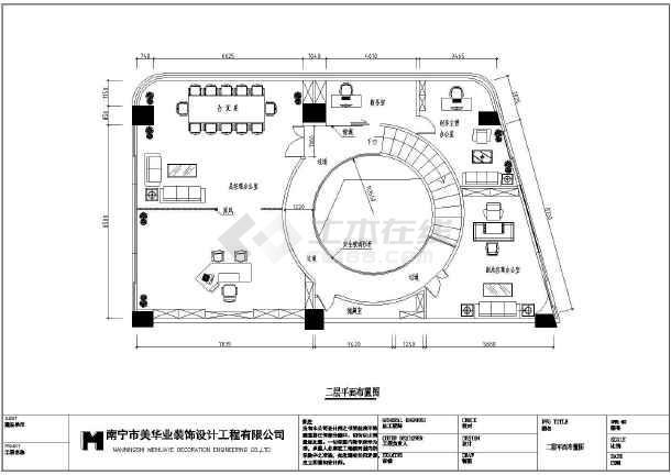 某得利aicc两层办公室平面布置图