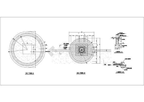 【江苏】某园林景观花墙及花坛设计施工图
