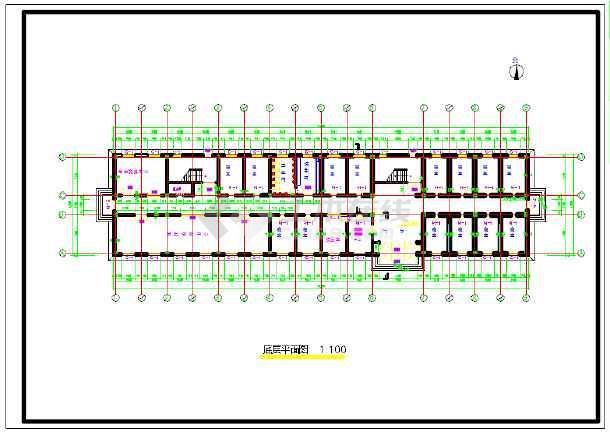某中学六层男生公寓楼建筑结构施工图