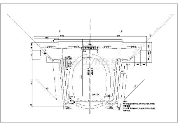 洞门大样路桥结构设计cad隧道教学目标详图画图的纸图片