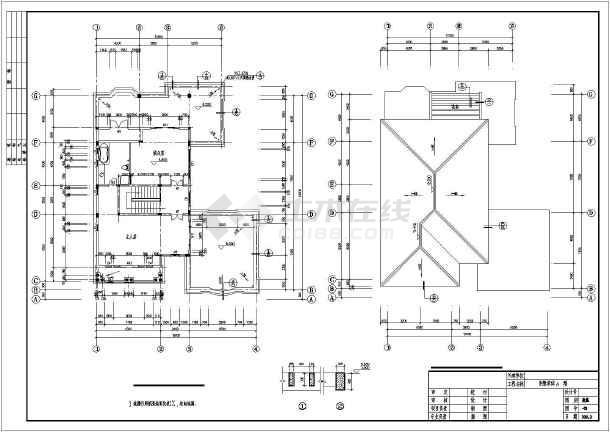 中南地区三层框架结构独栋欧式别墅建筑设计施工图
