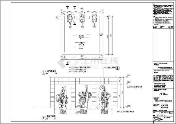 柱基础详图,廊架平面图