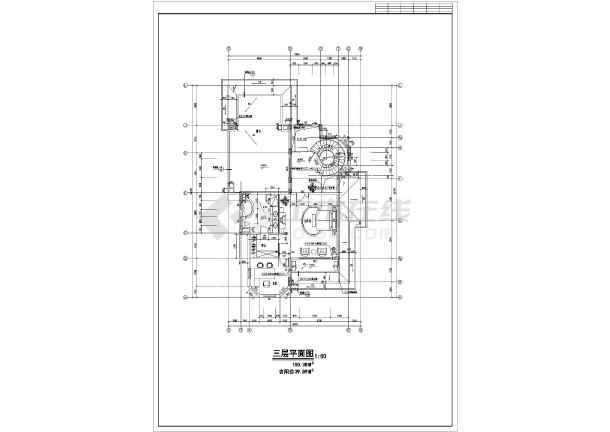 东莞市三层框架结构欧式别墅建筑设计施工图