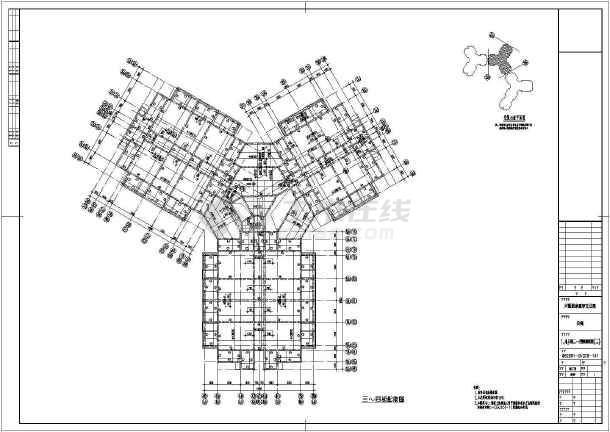 海南翡翠谷星级酒店结构图(y型平面)图片3