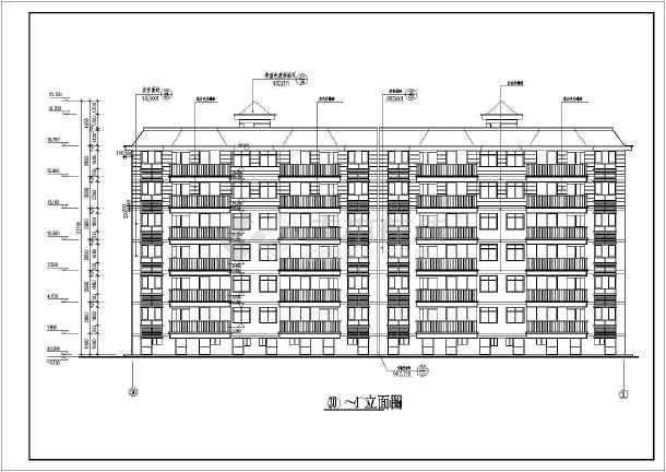 某地多层砌体结构住宅楼建筑设计施工图