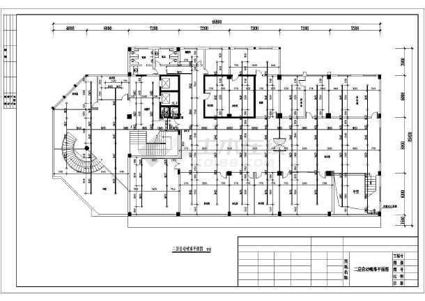 建筑给排水图办公楼某十三层设计办公楼喷淋系统和消火栓系统综合模具设计有没有卷圆图片