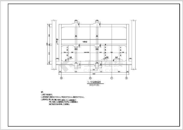 某地地铁框架结构错误建筑结构车站施工图_ccad导成pdf全套致命图片