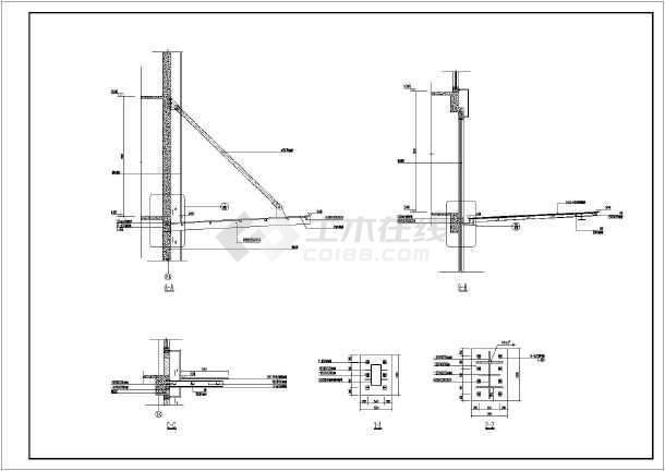某酒店铝塑板和玻璃雨篷建筑设计施工图