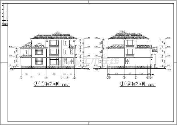某地三层框架结构别墅建筑设计方案图
