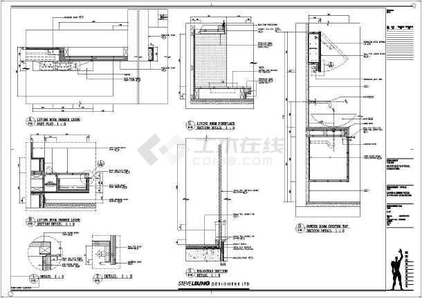 某高档小区复式楼样板房装修设计施工图