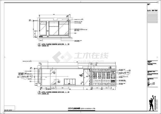 某高档小区复式楼样板房装修设计施工图图片