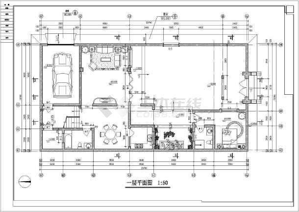 别墅图纸  别墅设计图  北方2层砖混结构四合院建筑施工图纸  北方2