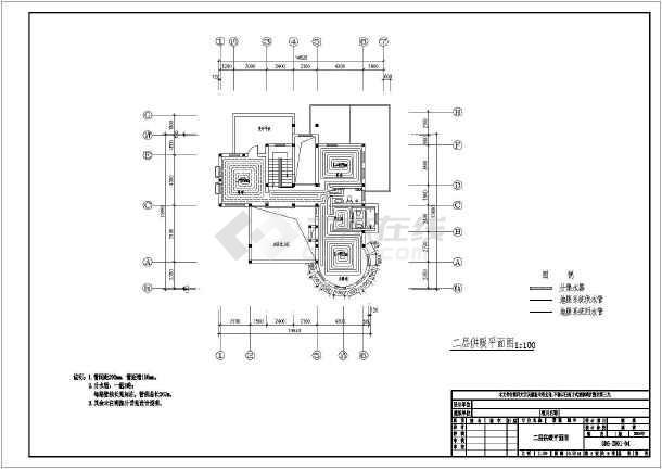某两层别墅地板辐射采暖暖通空调设计图-图2