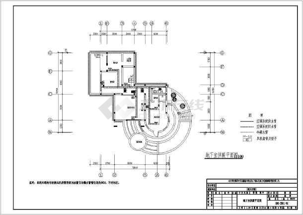 某两层别墅地板辐射采暖暖通空调设计图-图3