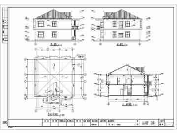 某地两层砖混结构别墅建筑结构施工图纸