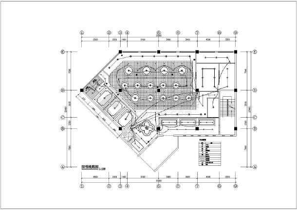 某地区火锅店室内装修设计施工字体紫金花图纸v字体图片