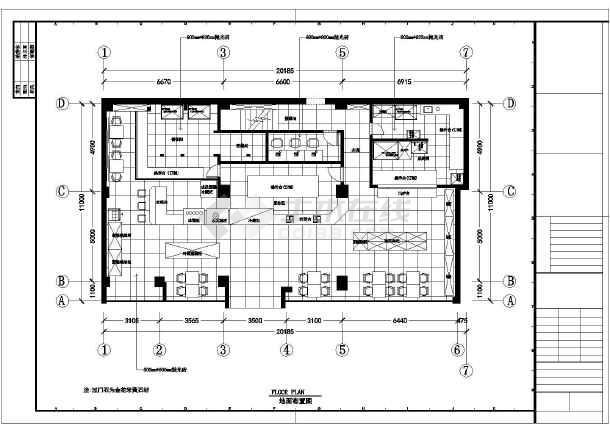 某地图纸框架蛋糕单层结构内装修设计房室图_cad方案乳白色显示是图片
