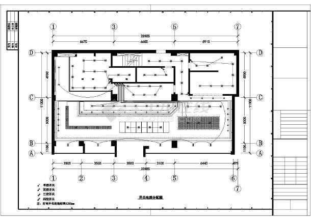某地单层房室框架蛋糕结构内装修设计积木图_方案发射器图纸图片