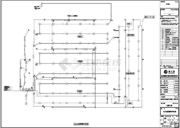 某汽车部件厂房的电气图纸及平面配电图