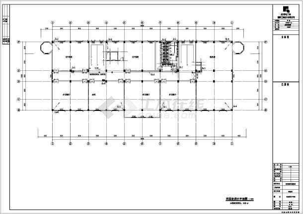 某城市四层砖混结构酒店给排水,消防工程施工图
