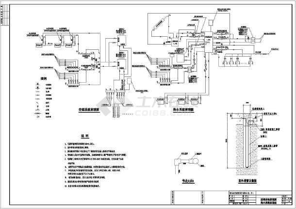 某地源热泵供冷负压燃气锅炉与太阳能热水器供暖别墅