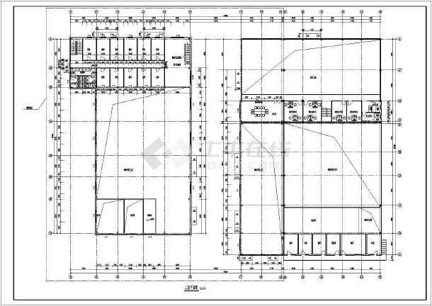该为河北省某二层汽车4s店建筑设计施工图,展厅及维修车间为钢结构