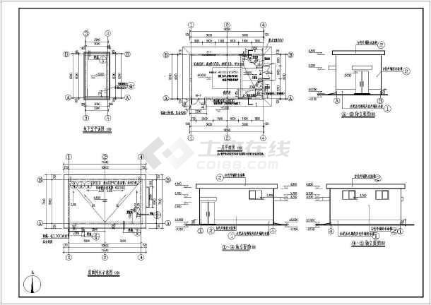 某地一层砖混大学锅炉房建筑设计结构方案图纸v大学舞台美术图片